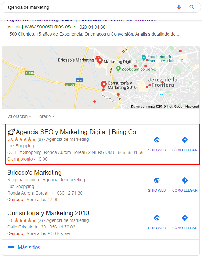 SEO local agencia de marketing